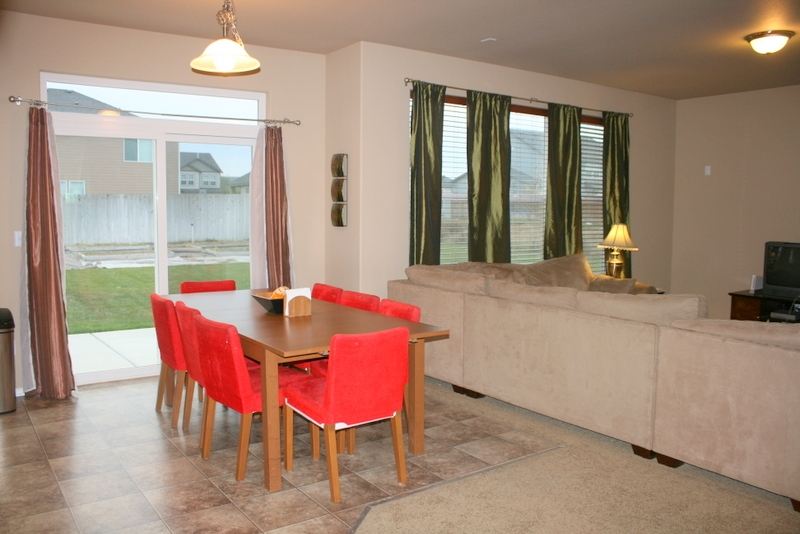 Dining area and family room