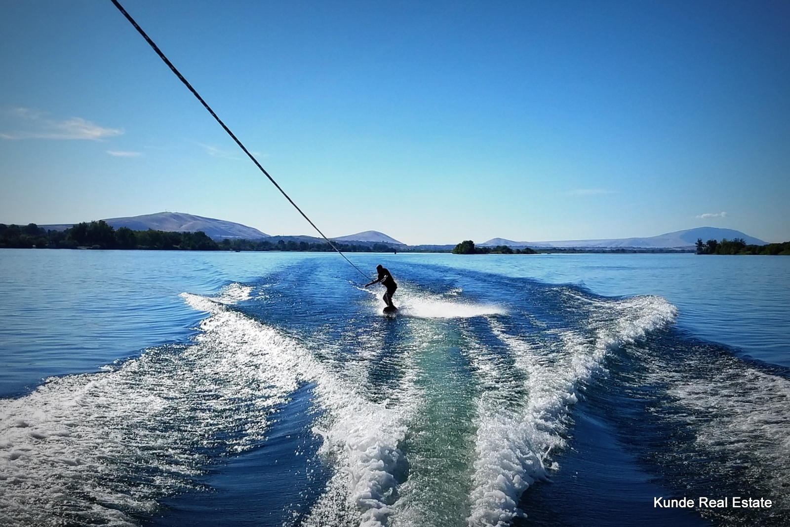 Wakeboarding on the Columbia River