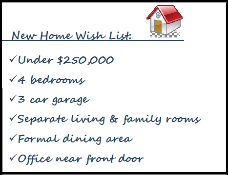 The wish list perfect or i ll pass kunde real estate for Home wish list